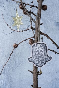 via Walther & Co. / love the detail: traditional pattern / textile ornament #Christmas