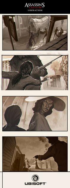 Assassin's Creed III: Liberation  - scene by drazebot.deviantart.com on @deviantART
