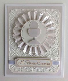 First Communion Cards, First Communion Invitations, First Holy Communion, Confirmation Cards, Baptism Cards, Christian Cards, Shaped Cards, Embossed Cards, Cricut Cards