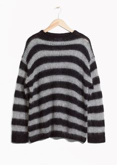 & Other Stories image 1 of Striped Wool Jumper in Black