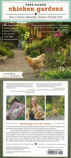 Free-Range Chicken Gardens: How to Create a Beautiful, Chicken-Friendly Yard by Jessi Bloom starting at $8.49 (used) on Amazon at http://www.amazon.com/gp/product/1604692375/ref=as_li_ss_tl?ie=UTF8camp=1789creative=390957creativeASIN=1604692375linkCode=as2tag=caftandresses-20