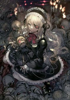 pixiv is an illustration community service where you can post and enjoy creative work. A large variety of work is uploaded, and user-organized contests are frequently held as well. Girls Anime, Anime Art Girl, Manga Girl, Manga Anime, Gothic Anime Girl, Anime Angel, Dark Anime, Estilo Anime, Ecchi