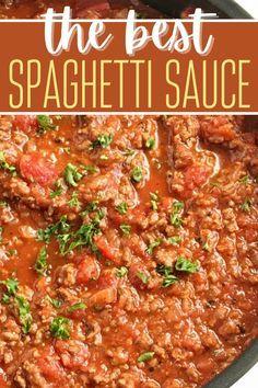 Homemade Spaghetti Meat Sauce, Best Spaghetti Sauce, Homemade Meat Sauce, Pasta With Meat Sauce, Meat Sauce Recipes, Cod Recipes, Spaghetti Recipes, Homemade Pasta, Baked Chicken Recipes
