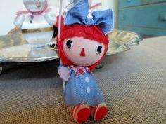 Vintage Raggedy Ann Ornament  Umbrella Japan by AstridsPastTimes, $7.00