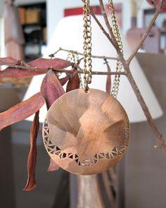 necklace: bronze