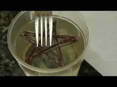 Making piped chocolate decorations using very cold alcohol - YouTube