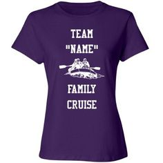 Family cruise | Custom fun tee shirt for the family cruise. personalize it with the family name.
