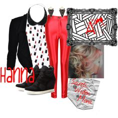 """Hanna--""""'A' is for A-L-I-V-E"""" My outfit take on the fashionable character Hanna Marin in the Pretty Little Liars season four premier, """"'A' is for A-L-I-V-E""""."""