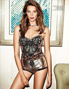 Dolce & Gabbana Spring 2012 RTW Sequin Jeweled Bodysuit Photograph