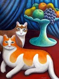 Resultado de imagem para naive folk art for beginers Naive, Crazy Cat Lady, Crazy Cats, Favorite Subject, Cat Pin, All About Cats, A 17, Cat Toys, Art Images