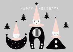 Christmas card by THE VELVET EGG