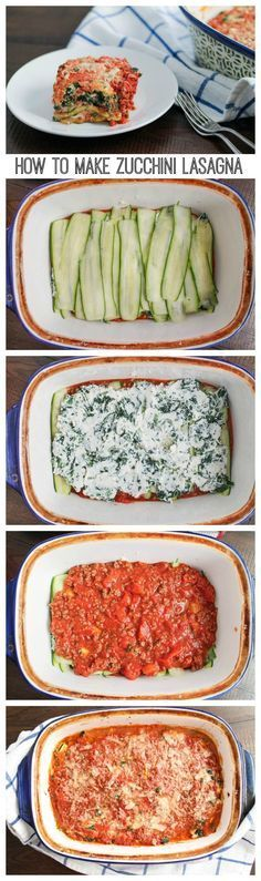 A bold meaty zucchini lasagna made with thin slices of zucchini instead of pasta. This zucchini lasagna recipe is a lower carb version of a classic! Vegetarian Recipes, Cooking Recipes, Healthy Recipes, How To Vegetarian, Vegetarian Tapas, Tapas Recipes, Crab Recipes, Recipes Dinner, Healthy Drinks