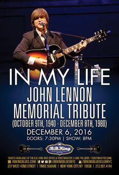 In My Life: The John Lennon Memorial Tribute (12.06.16)