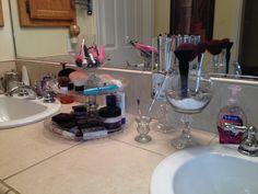 My DIY makeup organizer and make up brushe holders