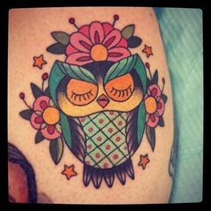 Kate Knowles - Tattooist in Melbourne (Chapel Tattoo) | Owl tattoo #owltattoo #chapeltattoo