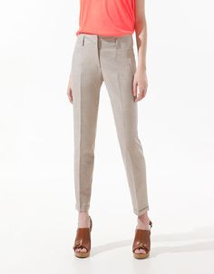$49.99 TROUSERS WITH PIPED POCKETS - Trousers - Woman - ZARA United States