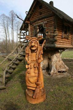 Figurative Carving vk.com/public87035101 Chainsaw Wood Carving, Wood Carving Art, Tree Carving, Wood Carvings, Wood And Metal, Metal Art, Tree Trunks, Wooden Art, Wood Sculpture