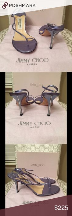 Jimmy Choo Lilac Blue Silver Heels 39 Size 9 Like new.  Size 39 (US 9).  Beautiful shoes. Jimmy Choo Shoes Heels