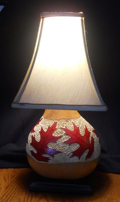 Carved Leaves Gourd Lamp. $125.00, via Etsy.