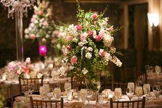 Beautiful wedding reception centerpieces.
