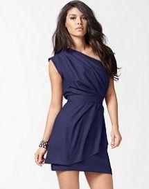 BCBG Lavender Dress   BCBGeneration's one shoulder layered pleated dress