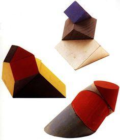 Hermann Finsterlin, Three Geometric Fantasies, 1922-1923