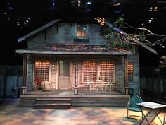 "Nyalls Harman's set for ""Proof"" PROOF by David Auburn. Directed by Nyalls Hartman. A UMBC Department of Theatre Production - Opens this Thursday October 27, 2016 and runs through Sunday October 30, 2016! Come join me as my guest!!"
