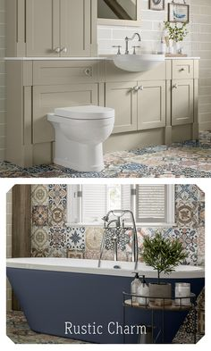 Fitted Bathroom Furniture, Rustic Charm, Small Bathroom, Storage Spaces, Flooring, Cabinet, The Originals, Ideas, Clothes Stand
