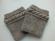 Boot CuffsHand Knit Boot Toppers Leg Warmers by DachuksB on Etsy