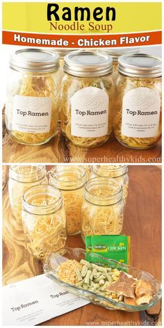 Lower in sodium than the commercial brand! Lower in sodium than the commercial brand! Homemade Dry Mixes, Homemade Ramen, Homemade Spices, Homemade Seasonings, Homemade Recipe, Mason Jar Meals, Meals In A Jar, Top Ramen Recipes, Rib Recipes