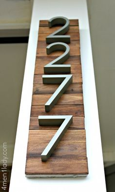 DIY house numbers - love this idea!!