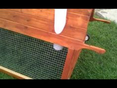 Cedar A-Frame Chicken Coop Tractor (4ft. by 6ft. model) - YouTube