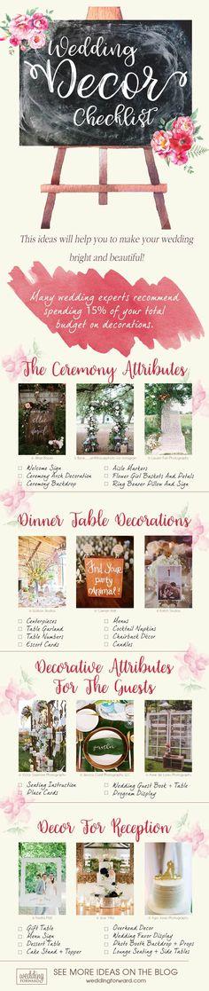 Top 5 Wedding Decor Trends For 2018 Brides | Wedding Forward | wedding decorations checklist