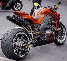 Kawasaki Orange Wallpapers) – Free Backgrounds and Wallpapers Custom Street Bikes, Custom Sport Bikes, Moto Bike, Motorcycle Bike, Vrod Custom, Custom Baggers, Rockabilly Vintage, Kawasaki Bikes, Motos Kawasaki