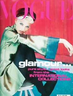 Linda Evangelista on the cover of  Vogue UK, September 1991. Photographed by Javier Vallhonrat.