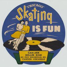 vintage roller rink logo: Cam-Ark Roller Rink - Camden, Arkansas