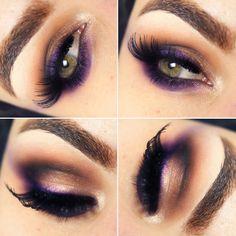 Purple makeup/Make roxa ~Pausa para Feminices