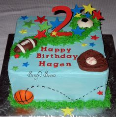 Sports Ball Birthday Cake by Sandy's Sweets, via Flickr