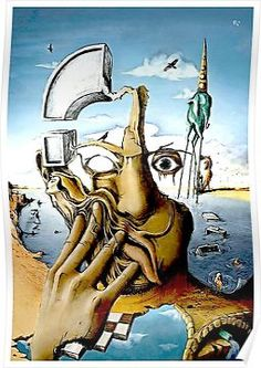 A good unnamed painting by Salvador Dali. Dali is my second fave artist. L'art Salvador Dali, Salvador Dali Paintings, Illusion Kunst, Street Art, Wow Art, Fine Art, Art Design, Design 24, Fantasy Art