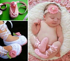 Crochet Ballerina Baby Booties With Video | The WHOot