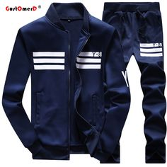 Cheap clothing casual, Buy Quality clothing fitness directly from China clothing men Suppliers: Large size Men's Casual Suits Pants Two Piece Track Suit Stand Collar Sportswear Hip Hop Casual Sets Fitness Clothing Mens Casual Suits, Mens Suits, Hoodie Sweatshirts, Terno Casual, Track Suit Men, Tracksuit Jacket, Hoodie Jacket, Men's Fashion Brands, Man Set