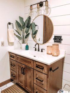 Boho Bathroom, Bathroom Renos, Small Bathroom, Master Bathroom, Bathroom Renovations, Remodel Bathroom, Bathroom Ideas, Blush Bathroom, Bathroom Vanity Decor