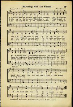 Printable music sheet