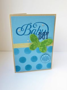 Stampin Utopia Bestel Stampin' Up! Hier: Dots mask, butterfly basics, celebrate baby, label love, baby kaart, baby card