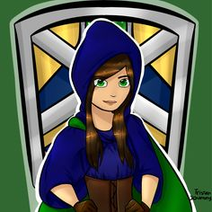 """My Minecraft Avatar: Humanized"" by me, Tristan Journey/Emily Tristan, Paint Tool Sai. (8/9/15) yay new profile picture for YT :D"