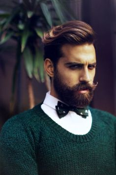 Something just right with a bowtie and a beard