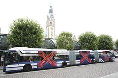 XXL Bus Design von Orange Cube Werbeagentur für die Hamburger Hochbahn