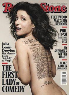 Pin for Later: 33 der heißesten Nacktbilder auf Magazin-Titeln Julia Louis-Dreyfus für Rolling Stone, April 2014 Source: Rolling Stone