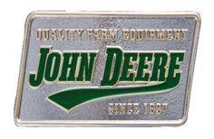 Montana Silversmiths Western Belt Buckle John Deere Silver A198JDS, Green