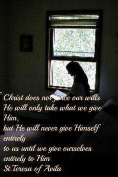 Teresa of Avila St Theresa Of Avila, Surrender To God, Spiritual Formation, Easter 2018, Classroom Quotes, Uplifting Messages, Catholic Quotes, Catholic Saints, Mother Teresa